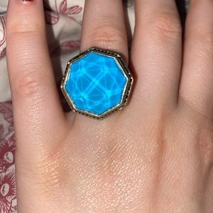 Blue Stone Silpada Sterling Ring Size 8.5